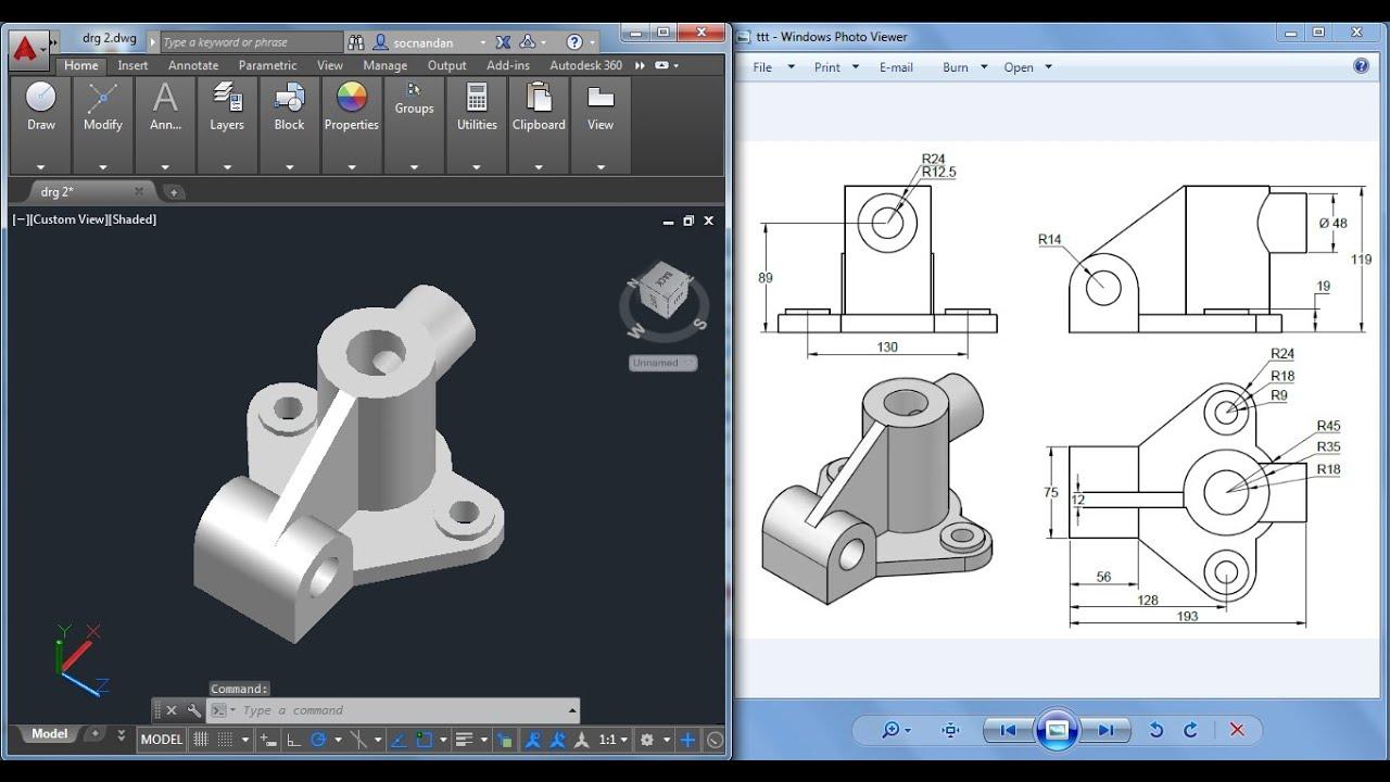 مدلسازی سه بعدی ابزار در اتوکد