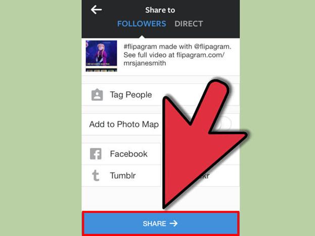 اضافه کردن فایل صوتی به عکس و اشتراک گذاری آن در اینستاگرام