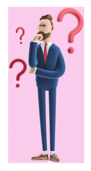 دوره حسابداری قوانین مالیاتی 3d illustration businessman billy standing with question marks
